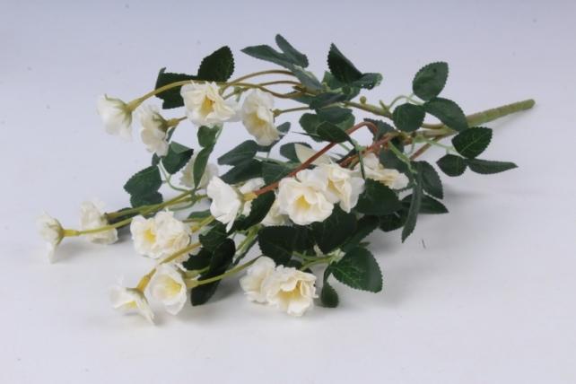 Искусственное растение - Розочки миниатюрные белые Б10750 h=37см