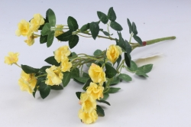 Искусственное растение - Розочки миниатюрные жёлтые Б10750 h=37см