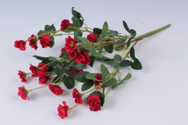 Искусственное растение - Розочки миниатюрные красные Б10750 h=37см