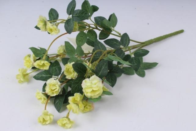 Искусственное растение - Розочки миниатюрные лимонные Б10750 h=37см