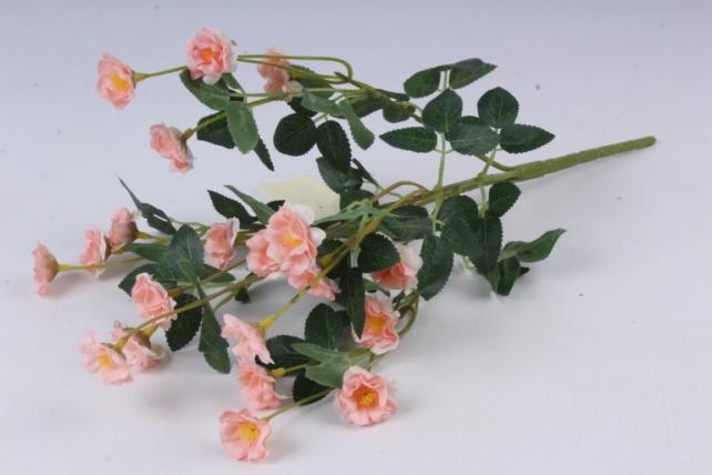 Искусственное растение - Розочки миниатюрные персиковые Б10750 h=37см