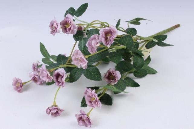 Искусственное растение - Розочки миниатюрные сиреневые Б10750 h=37см