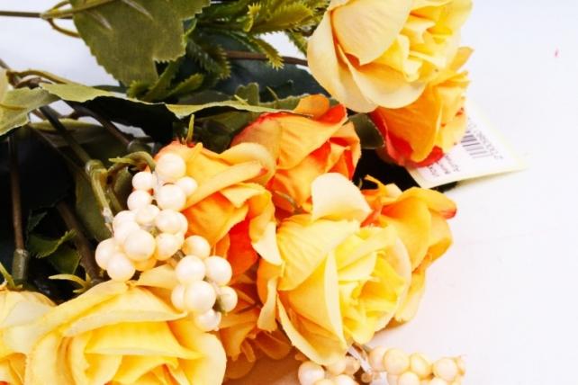Искусственное растение - Розочки винтаж жёлтая