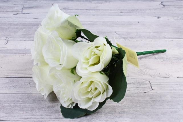 Искусственное растение - Розы Классика белые