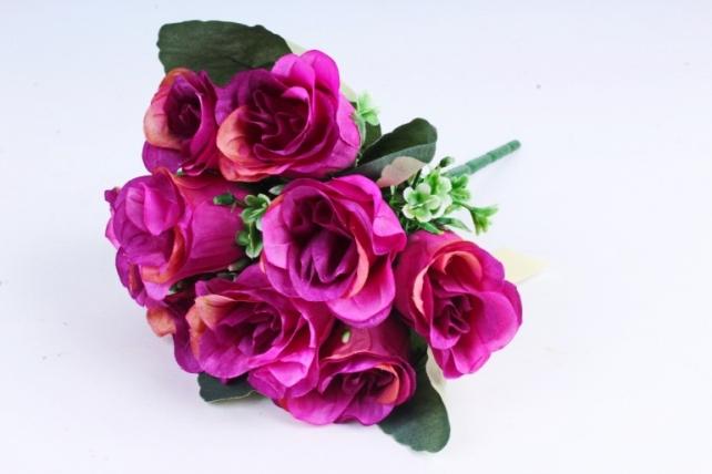 Искусственное растение - Розы Классика фиолетовые