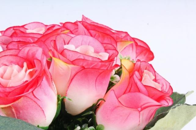 Искусственное растение - Розы Классика коралловые