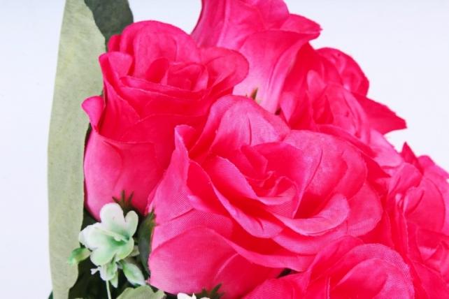 Искусственное растение - Розы Классика малиновые
