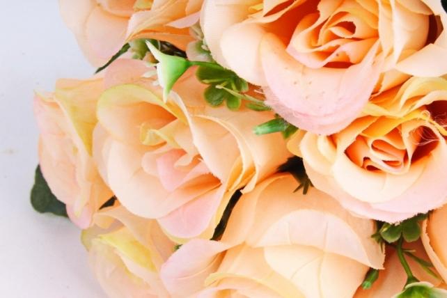 Искусственное растение - Розы Классика персиковые