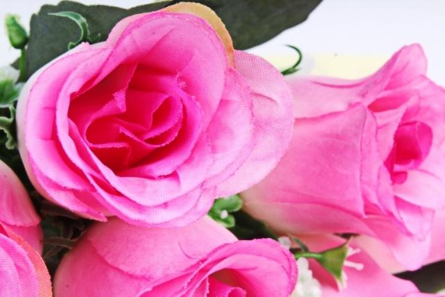 Искусственное растение - Розы Классика сиренево-розовые