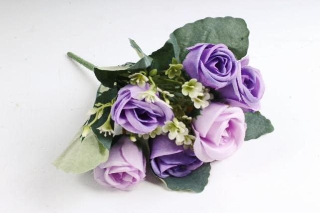 Искусственное растение - Розы Классика сиреневые