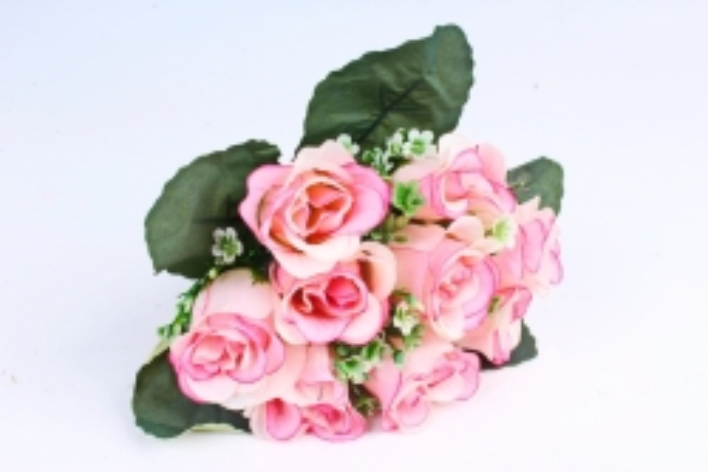 Искусственное растение - Розы Классика ярко-розовые