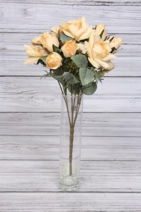 Искусственное растение - Розы красивые кремовые