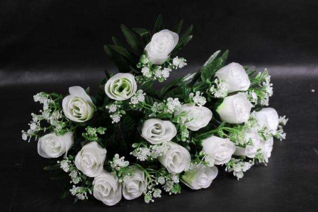 Искусственное растение - Розы с пальмой белые