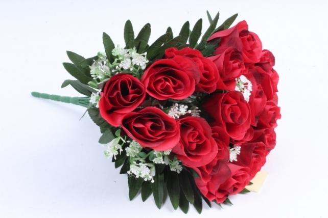 Искусственное растение - Розы с пальмой красные