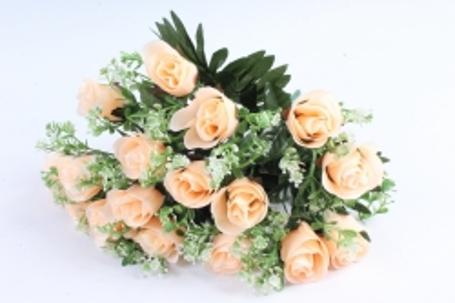 Искусственное растение - Розы с пальмой персиковые