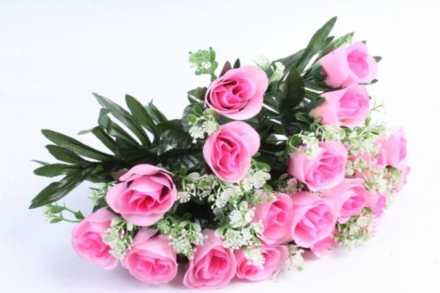 Искусственное растение - Розы с пальмой розовые