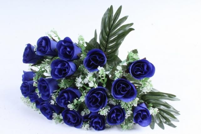 Искусственное растение - Розы с пальмой синие