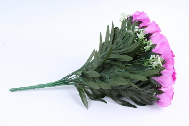 Искусственное растение - Розы с пальмой сиреневые