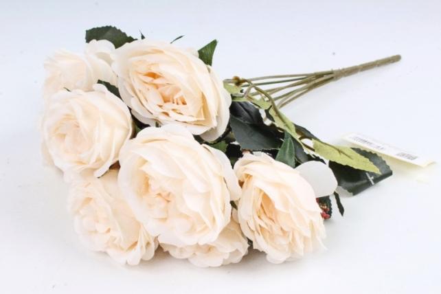 Искусственное растение - Розы с зелёным декором  шампань