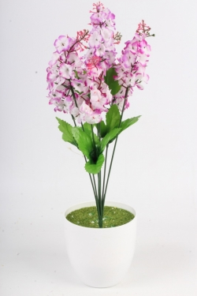 Искусственное растение - Сирень городская бело-сиреневая Н=44 см Б4848