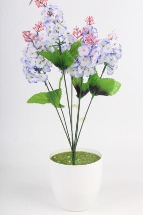 Искусственное растение - Сирень городская голубая Н=44 см Б4848