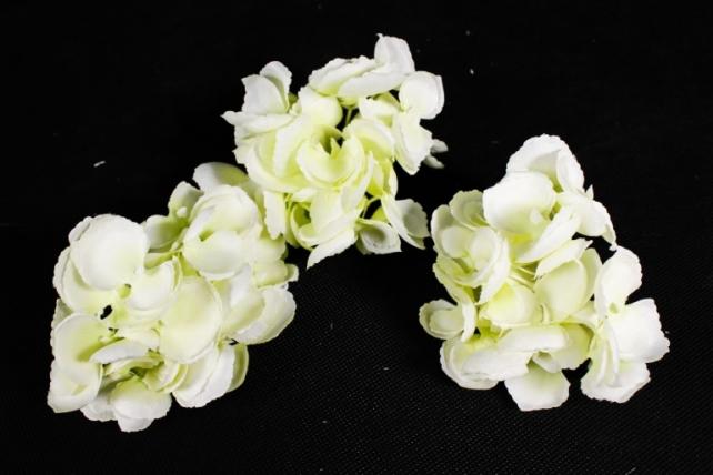 Искусственное растение - Соцветие гортензии  (3 шт) бело-салатовый ART134