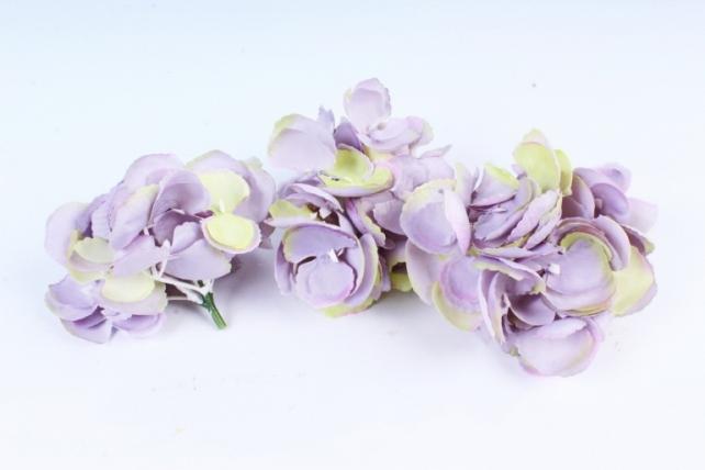 Искусственное растение - Соцветие гортензии (3 шт) дымчатый ART134