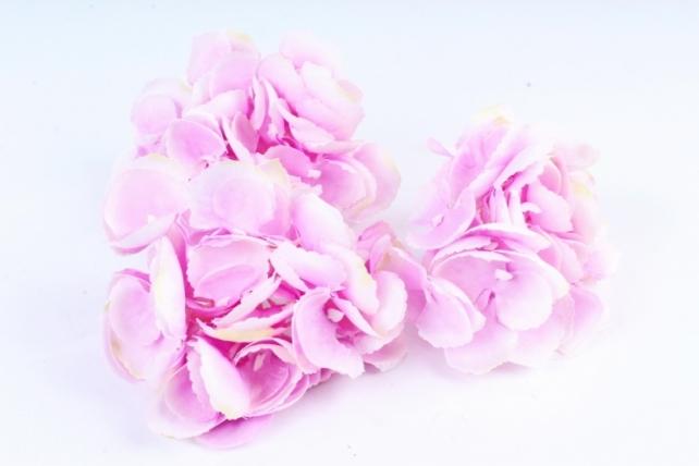 Искусственное растение - Соцветие гортензии  (3 шт) розовый ART134
