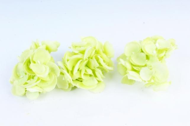 Искусственное растение - Соцветие гортензии  (3 шт) салатовый ART134