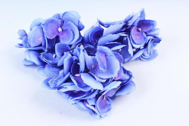Искусственное растение - Соцветие гортензии (3 шт) синий ART134