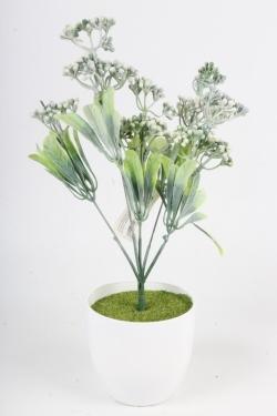 Искусственное растение - Спирея Бумальда белая Н=32 см Б10783
