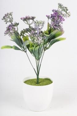 Искусственное растение - Спирея Бумальда сиреневая Н=32 см Б10783