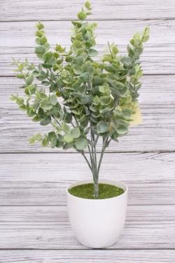 Искусственное растение - Спирея мягкий пластик сизая. 36 см.