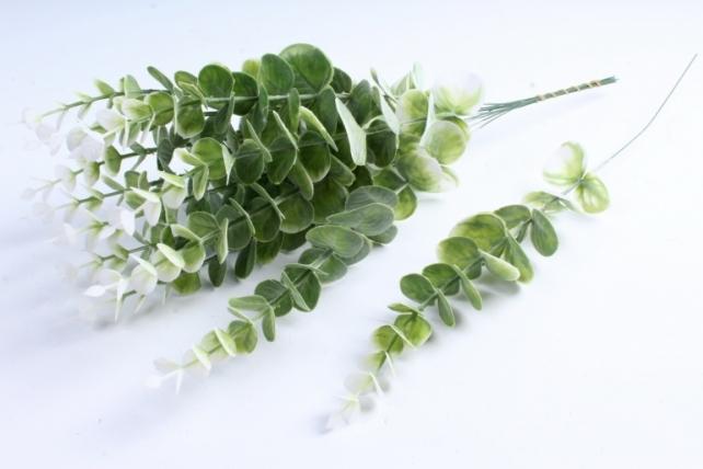 Искусственное растение - Ветка Эвкалипта 40 см белый  TIK047