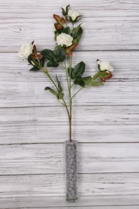 Искусственное растение - Ветка Розы 70 см белая