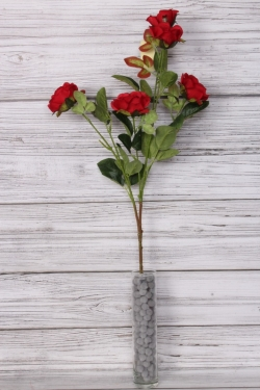 Искусственное растение - Ветка Розы 70 см красная