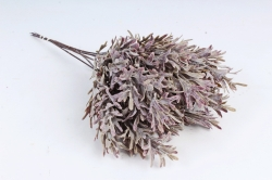 Искусственное растение - Ветка травы декор лиловая  (6 шт в уп) TIK105