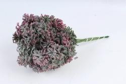 Искусственное растение - Ветка травы декор розовая (12 шт в уп) TIK044