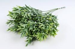 Искусственное растение - Ветка травы декор зелёная  (6 шт в уп) TIK105