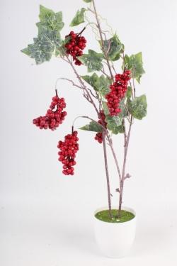 Искусственное растение - Ветка винограда красного Н=105 см В9277