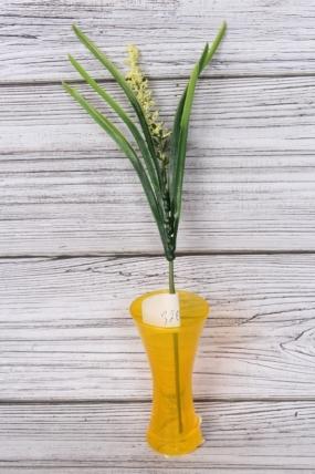 Искусственное растение - Веточка травы весенняя желтая 30см AVA156B