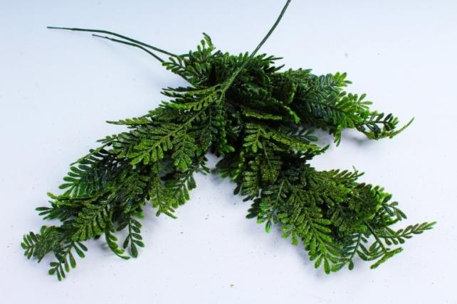 Искусственное растение - Веточка Туи широколистной  (3 шт в уп) 8015