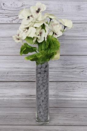 Искусственное растение - Виола 40 см белая