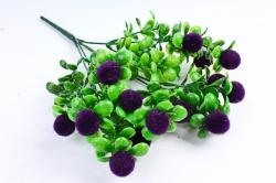 Искусственное растение - Ягодки бархатные фиолетовые