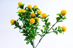 Искусственное растение - Ягодки бархатные жёлтые