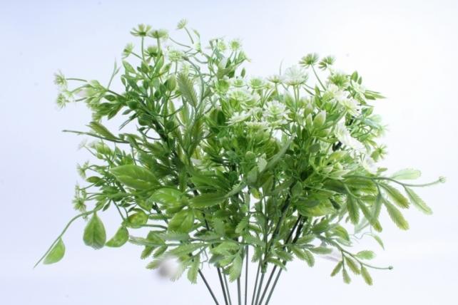 Искусственное растение - Зелень дизайнерская белая  Тцк