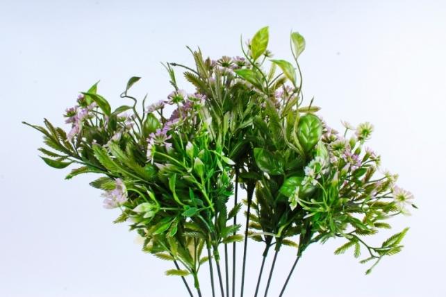 Искусственное растение - Зелень дизайнерская сиреневая  Тцк