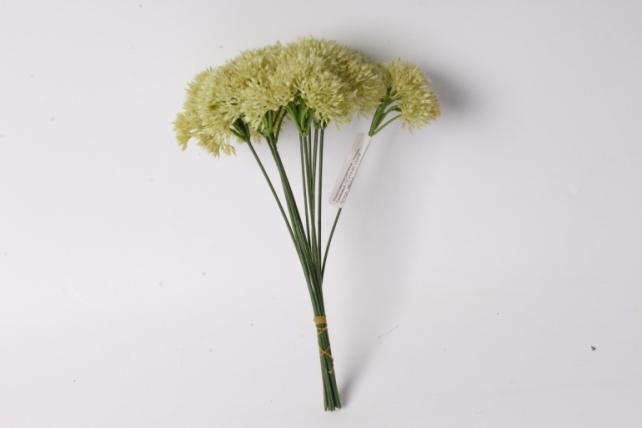 искусственное растение - аллиум салатовый (12 шт в уп)  liu219