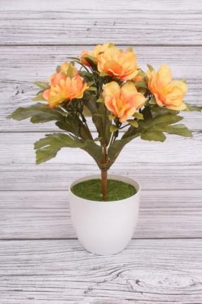 Искусственное растение -  Альстромерия пастель медовая. 27 см.
