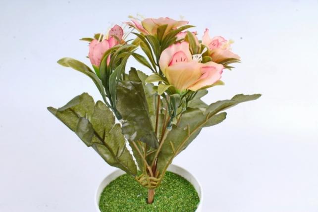 Искусственное растение -  Альстромерия пастель персиковая